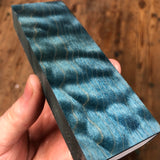 "Dyed Quilted Maple Blank 5 1/4""L x 1 3/4""W x 7/8"" thick"