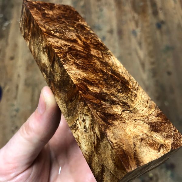 "Spalted Maple Burl Blank 5 9/16""L x 1 11/16""W x 15/16"" thick"