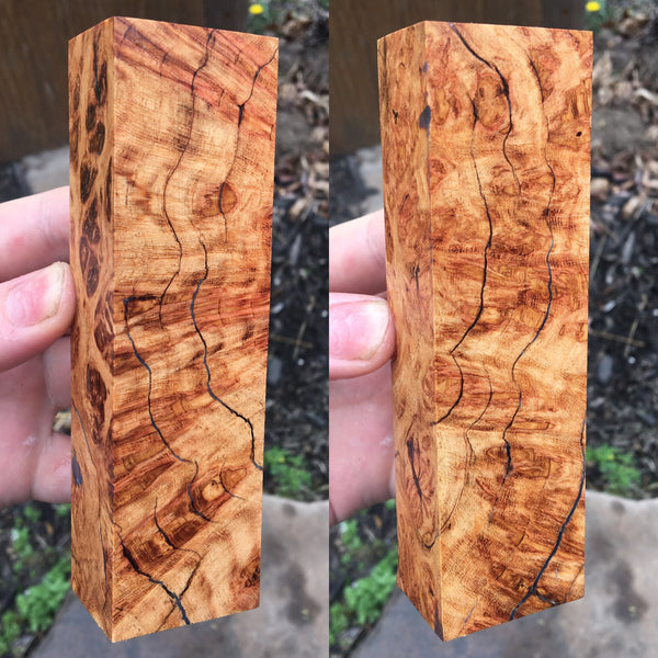 Honey Locust Burl w/ Black Resin Filled Cracks Blank