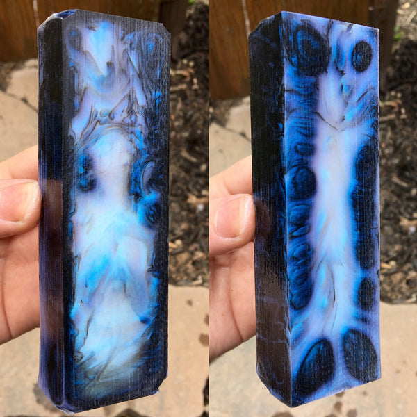 Blue/Purple Pearl Resin Blank