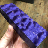 "Dyed Quilted Maple Blank 5 1/8""L x 1 5/8""W x 13/16"" thick"