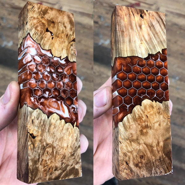 Maple Burl Honeycomb Blank
