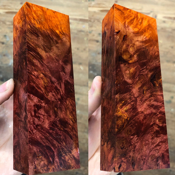 Dyed Oak Burl Blank