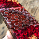 Dyed Spalted Maple Burl Honeycomb Hybrid Blank