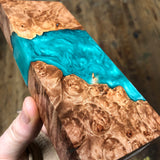 "Maple Burl Hybrid Blank 6 1/4""L x 2 7/16""W x 1"" thick"