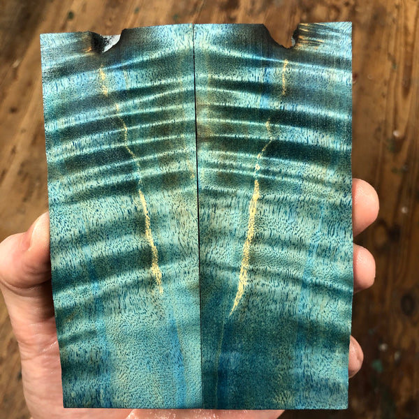 "Dyed Cottonwood Knife Scales 5 1/8""L x 2""W x .32"" thick"