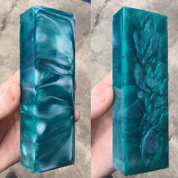 Seafoam Green Resin Blank
