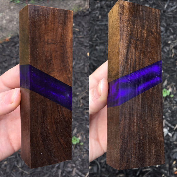 Desert Ironwood w/ Purple Resin Blank