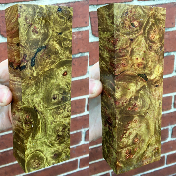 Olive Green Maple Burl Blank