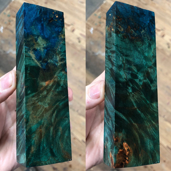 Dyed Maple Burl Blank