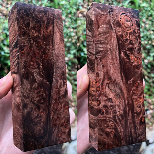 Black Dyed Maple Burl Blank