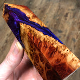 "Red Mallee Burl Hybrid Blank 5 3/4""L x 1 3/4""W x 1"" thick"