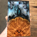 Defect Discount Red Mallee Burl Hybrid Knife Scales