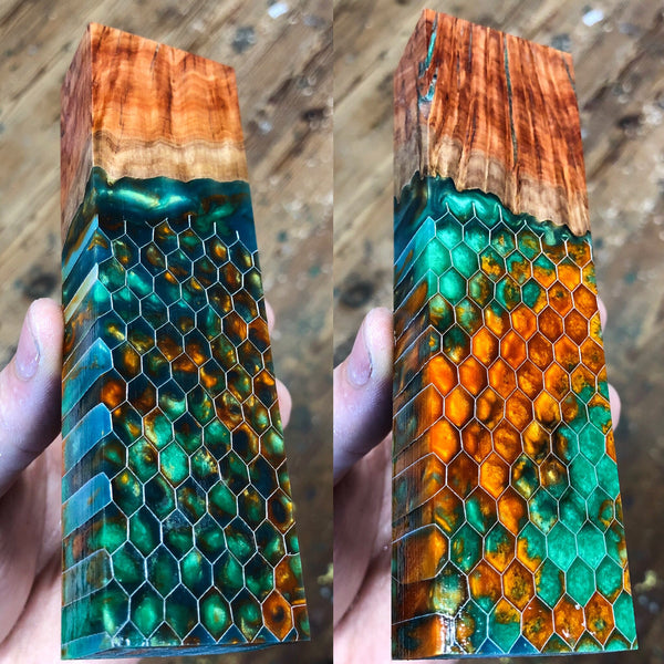 Red Mallee Burl Honeycomb Hybrid Blank