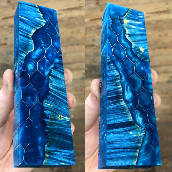 Dyed Box Elder Burl Honeycomb Blank