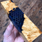 Box Elder Burl Honeycomb Hybrid Blank