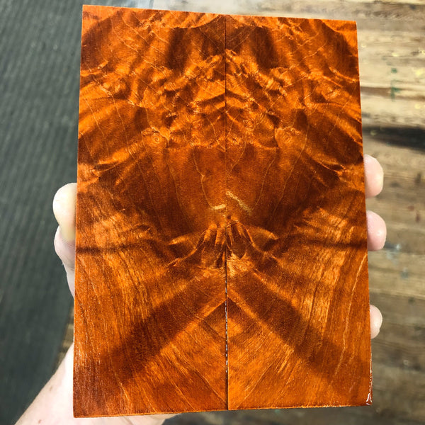 Dyed Maple Burl Knife Scales