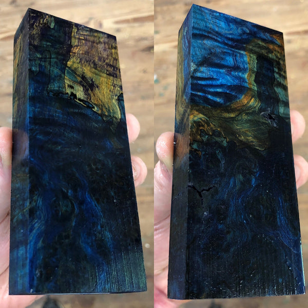 Dyed Spalted Maple Burl Blank