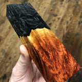"Red Morrell Burl Shredded Carbon Fiber Blank 5 3/8""L x 1 5/8""W x 15/16"" thick"