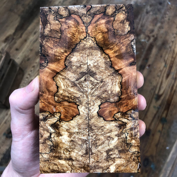 Spalted Maple Burl Knife Scales