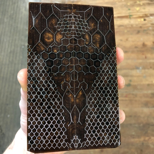 Brown/Bronze Honeycomb Knife Scales