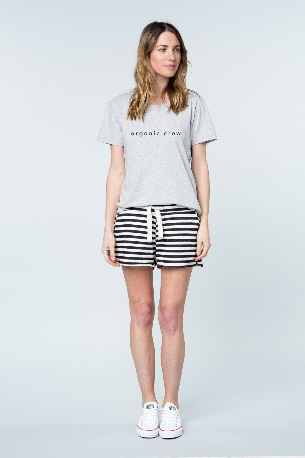 Super Relaxed Tee Grey OC Tee Shirt Organic Crew