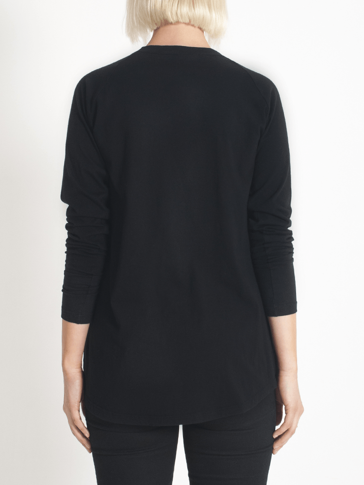 Load image into Gallery viewer, layer me l/s tee black