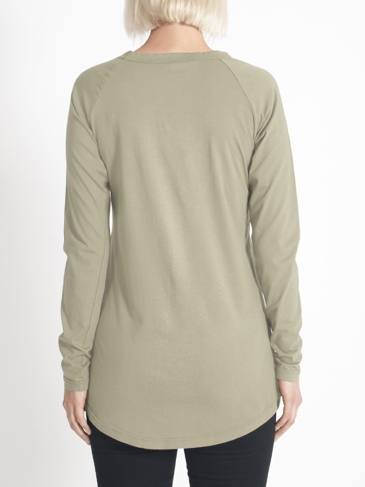 Load image into Gallery viewer, layer me l/s tee khaki l/s tee Organic Crew