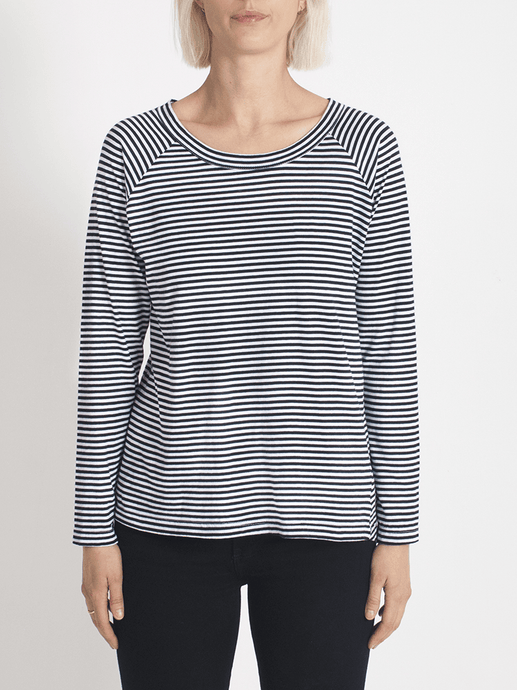 layer me l/s tee fine stripe