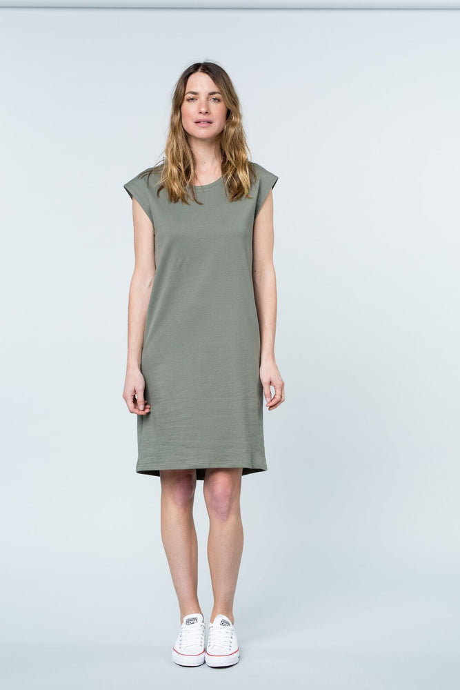 Load image into Gallery viewer, Peninsula tank dress khaki dress Organic Crew