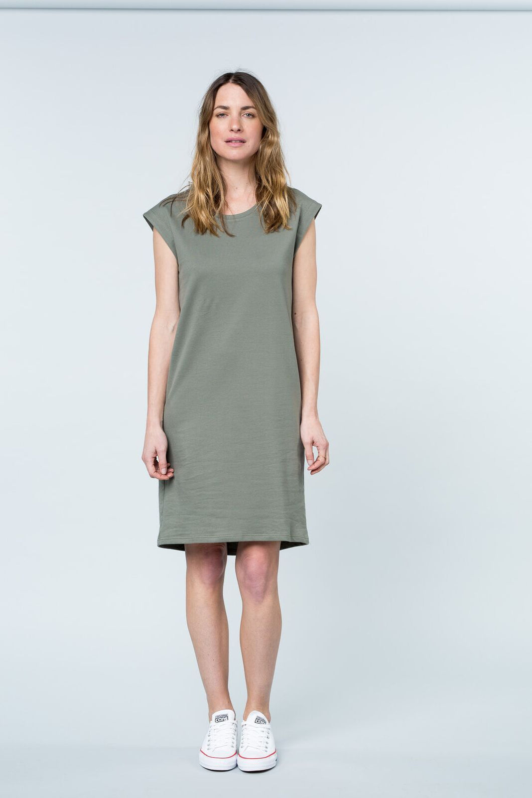 Peninsula tank dress khaki dress Organic Crew