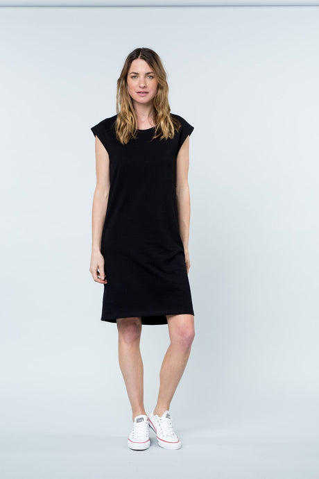 Peninsula tank dress black