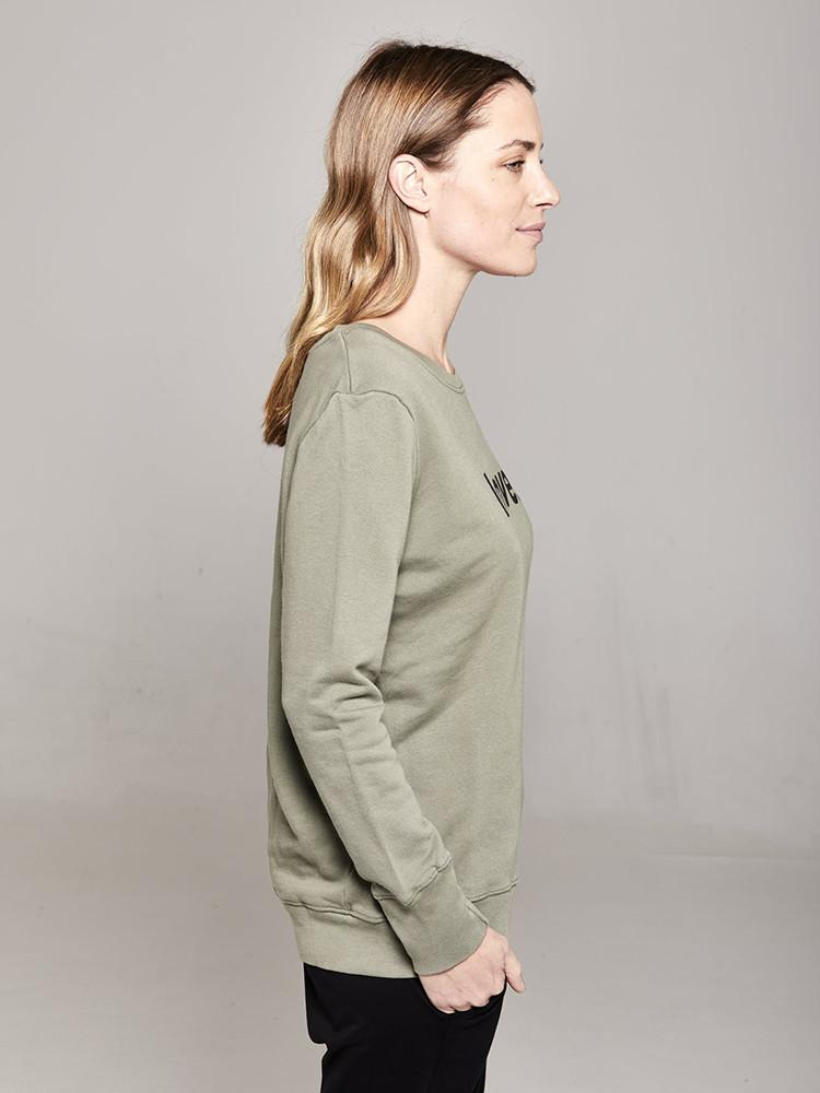 Load image into Gallery viewer, Boyfriend Sweater Khaki love