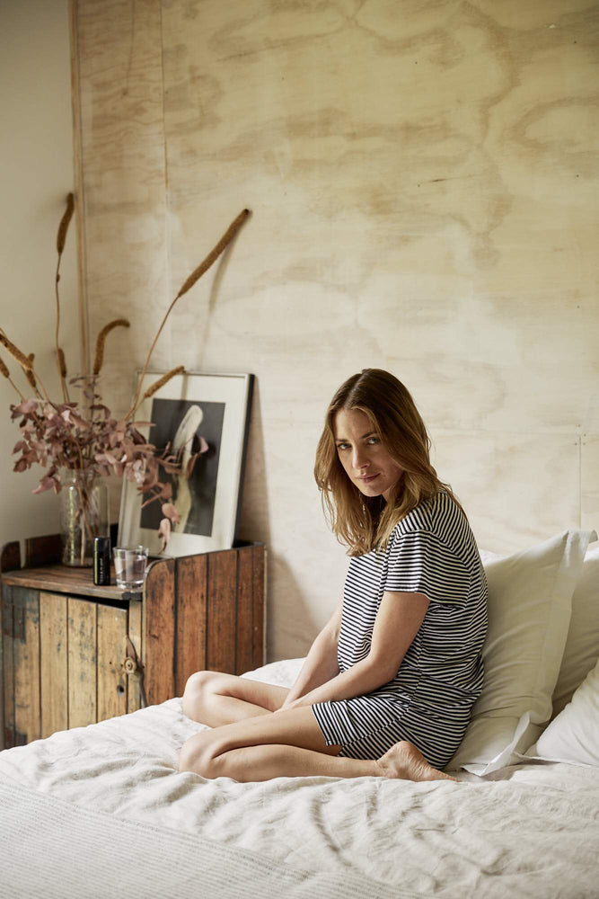 Load image into Gallery viewer, Provence Nightshirt Stripe