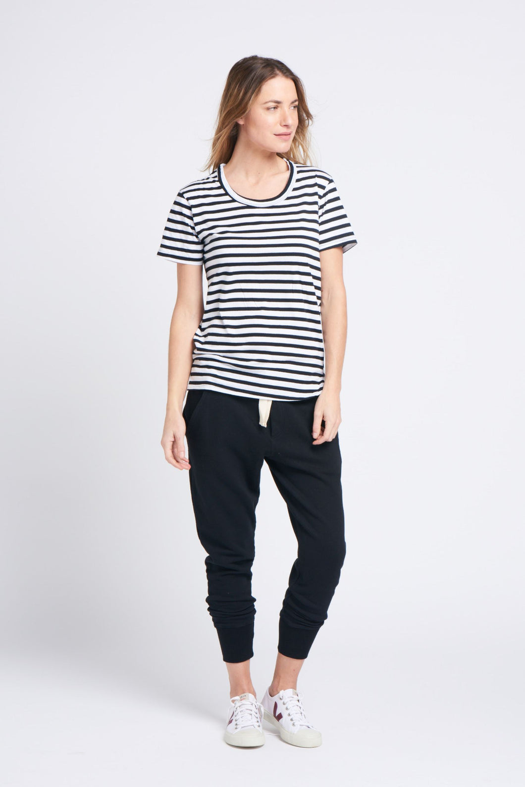 super relaxed tee stripe