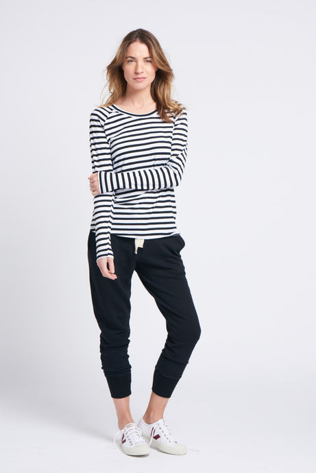 layer me l/s tee stripe