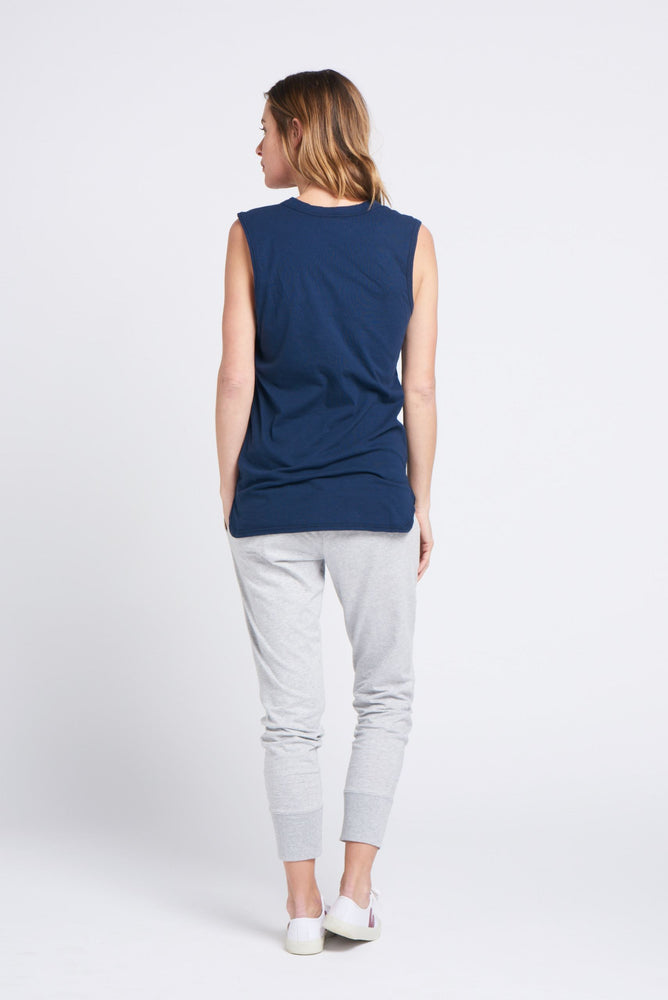 Load image into Gallery viewer, Perfecto Tank Navy Tank Organic Crew