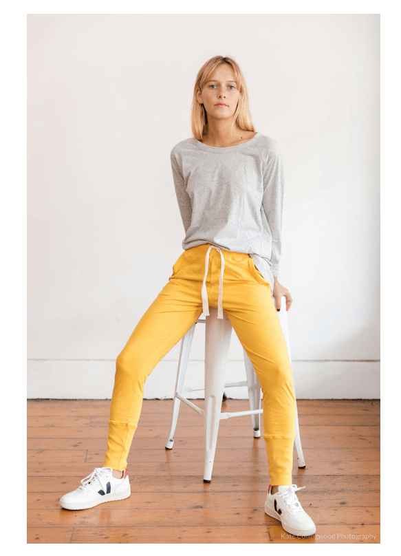 Load image into Gallery viewer, Lounge Pant Saffron pants Organic Crew