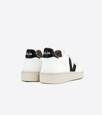 Load image into Gallery viewer, Veja V-10 Black / White shoes Organic Crew