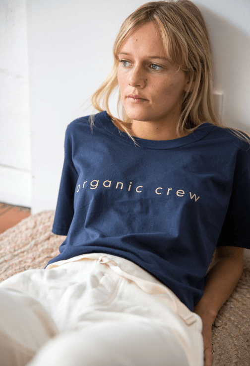 Load image into Gallery viewer, Super Relaxed Tee Navy OC Tee Shirt Organic Crew