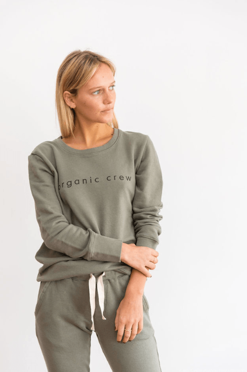 Boyfriend Sweater khaki OC Sweater Organic Crew