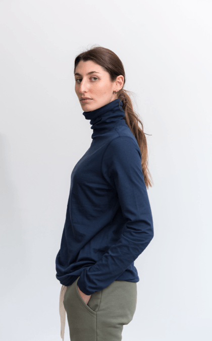 Load image into Gallery viewer, Luna Skivvy Navy skivvy Organic Crew
