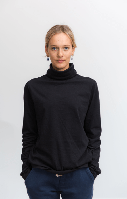 Load image into Gallery viewer, Luna Skivvy Black skivvy Organic Crew