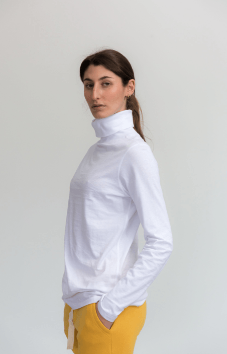 Load image into Gallery viewer, Luna Skivvy White skivvy Organic Crew