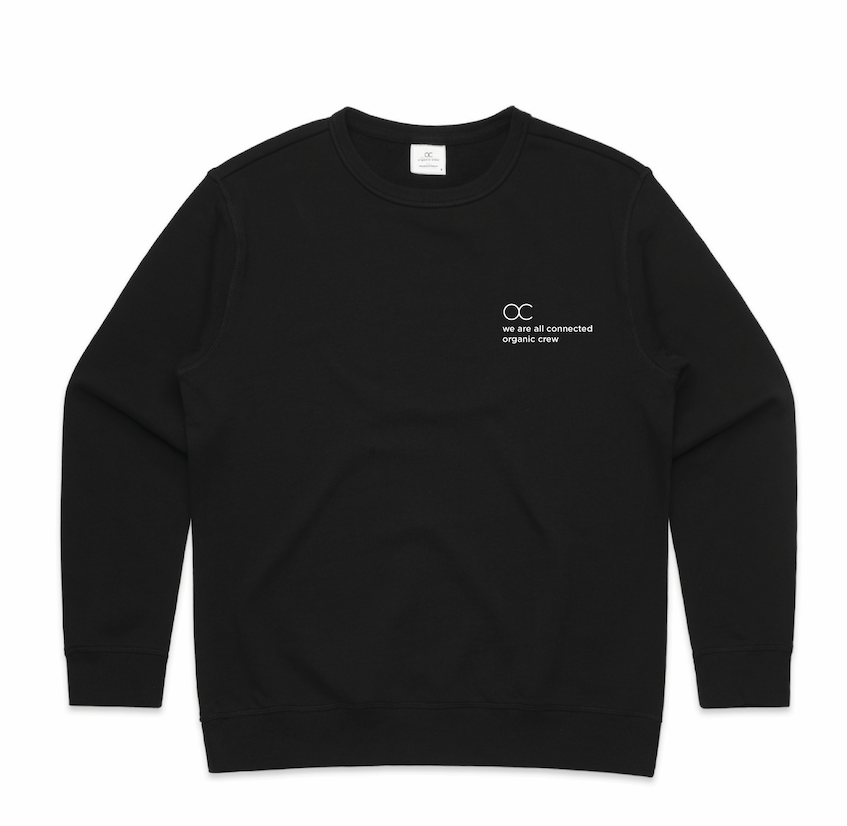 connected jogger sweater black - PRE SALE Sweater Organic Crew