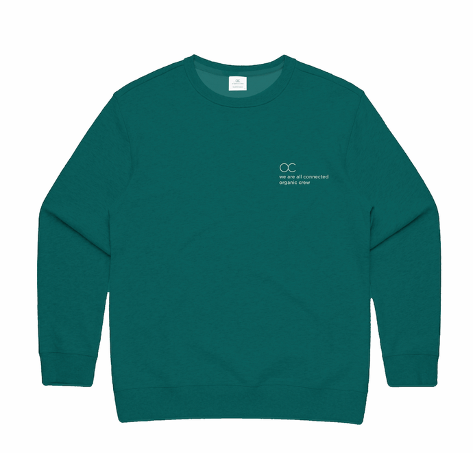 connected jogger sweater teal - PRE SALE Sweater Organic Crew