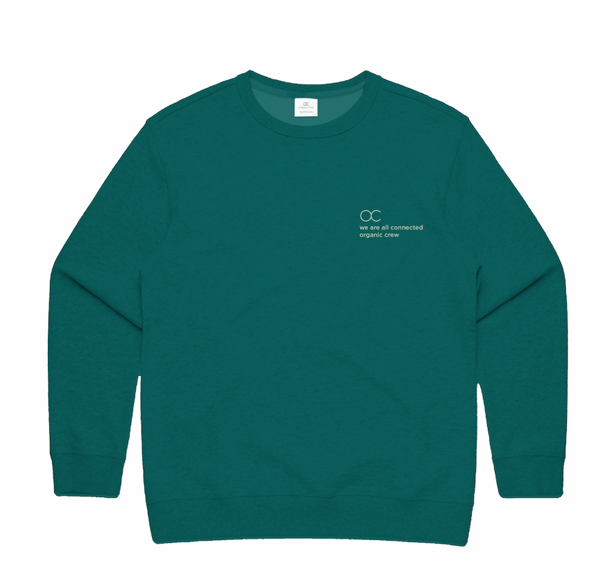 Load image into Gallery viewer, connected jogger sweater teal - PRE SALE Sweater Organic Crew