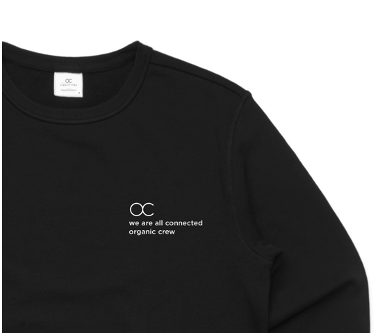 Load image into Gallery viewer, connected jogger sweater black - PRE SALE Sweater Organic Crew