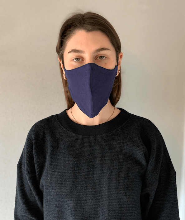 Load image into Gallery viewer, Organic Cotton Mask Navy General Organic Crew