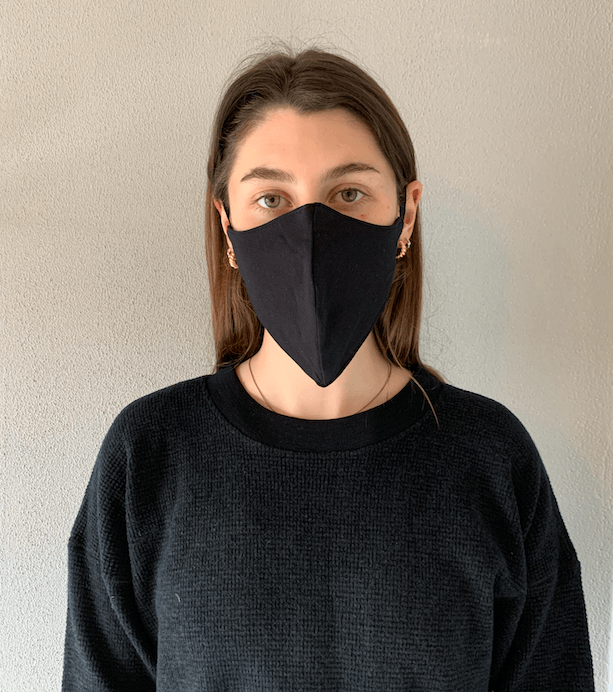 Organic Cotton Mask Black General Organic Crew